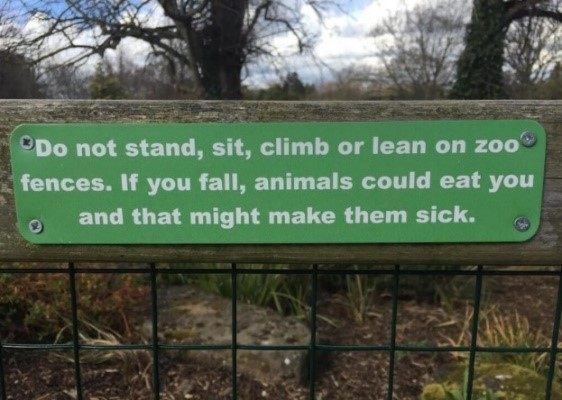Zoo warning